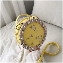 BTH13397-yellow Slingbag Circle Stylish Cantik Import