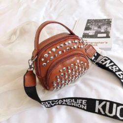BTH15542-brown Tas Selempang Wanita Fashion Import