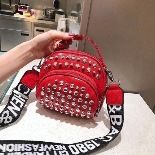 BTH15542-red Tas Selempang Wanita Fashion Import