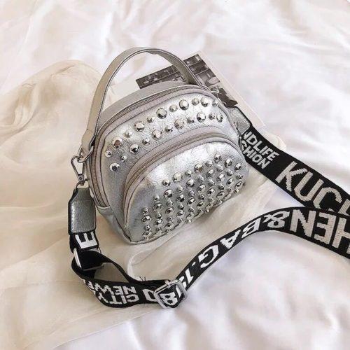 BTH15542-silver Tas Selempang Wanita Fashion Import