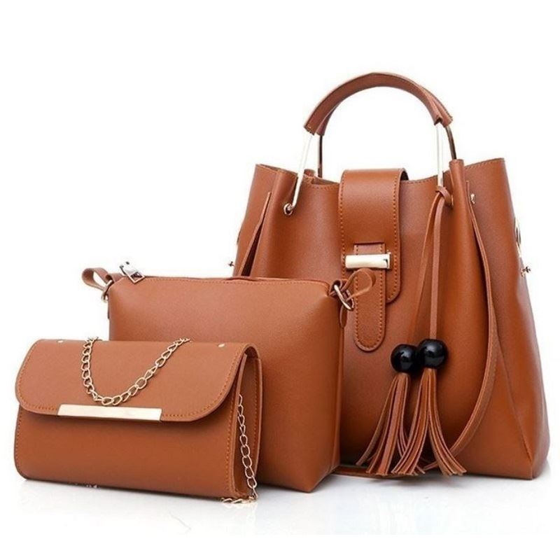 BTH3015 (3IN1) JKT IDR.90.000 MATERIAL PU SIZE L33XH30XW14CM-L21XH17XW7CM-L21XH12XW5CM WEIGHT 1100GR COLOR BROWN