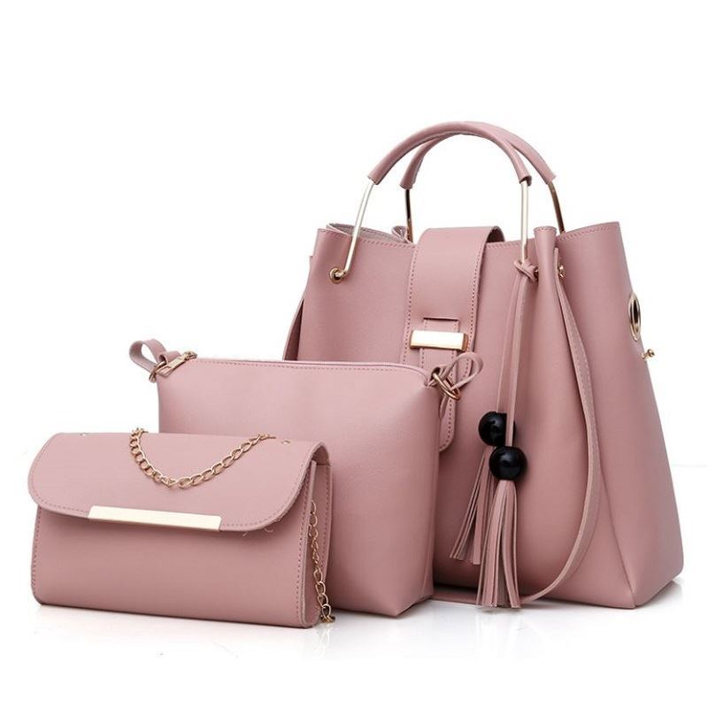 BTH3015 (3IN1) JKT IDR.90.000 MATERIAL PU SIZE L33XH30XW14CM-L21XH17XW7CM-L21XH12XW5CM WEIGHT 1100GR COLOR PINK