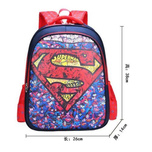 BTH999-supermanmany Tas Sekolah Anak Karakter Lucu Terbaru