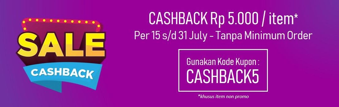 Banner Promo Cashback Tas.ID July 2019