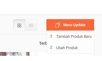 Cara Shopee Mass Update Produk Step 2 - Pilih Mass Update