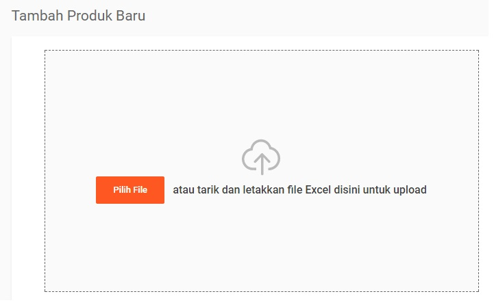 Cara Shopee Mass Update Step 3 - Pilih File