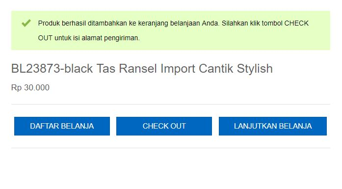 Check Out BELI Tas Import Online