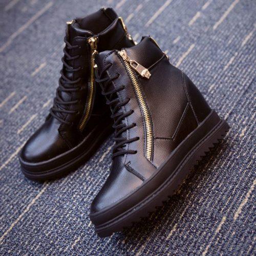 JSB165-black Sepatu Boots Wanita Cantik Elegan 3.5CM