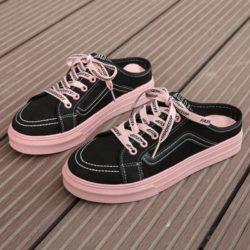 JSF3051-black Sepatu Sneaker Slip On Wanita Cantik Import