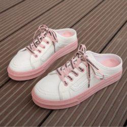 JSF3051-white Sepatu Sneaker Slip On Wanita Cantik Import