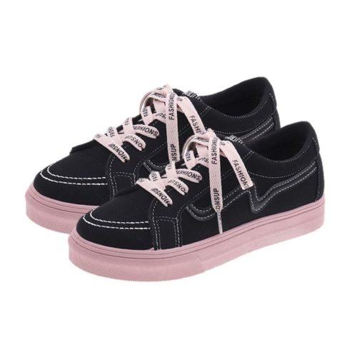 JSF3055-black Sepatu Sneaker Import Wanita Cantik Terbaru
