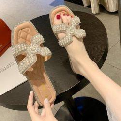 JSF518-pink Flat Shoes Import Wanita Elegan