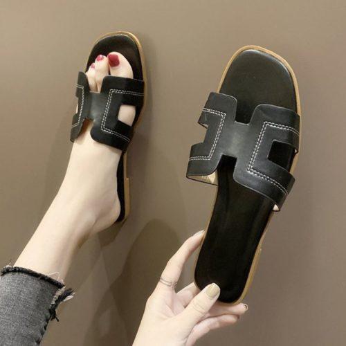 JSF553-black Sandal Fashion Wanita Cantik Import Terbaru