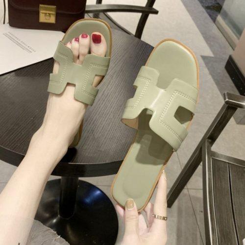 JSF553-green Sandal Fashion Wanita Cantik Import Terbaru