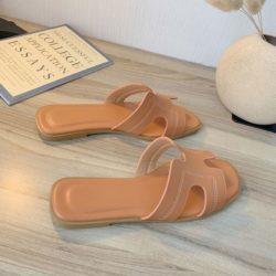 JSF553-orange Sandal Fashion Wanita Cantik Import Terbaru