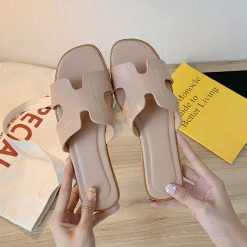 JSF553-pink Sandal Fashion Wanita Cantik Import Terbaru