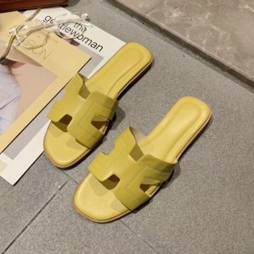 JSF553-yellow Sandal Fashion Wanita Cantik Import Terbaru