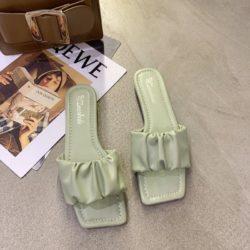 JSFA65-green Sandal Wanita Fashion Import Terbaru