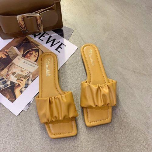 JSFA65-yellow Sandal Wanita Fashion Import Terbaru
