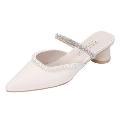 JSH012-beigepu Sepatu Heels Pesta Wanita Elegan Impoirt 5CM