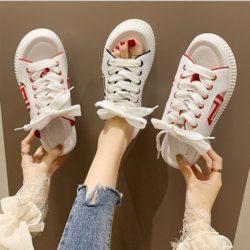 JSH01920-red Sepatu Wanita Modis Open Toe Cantik Terbaru