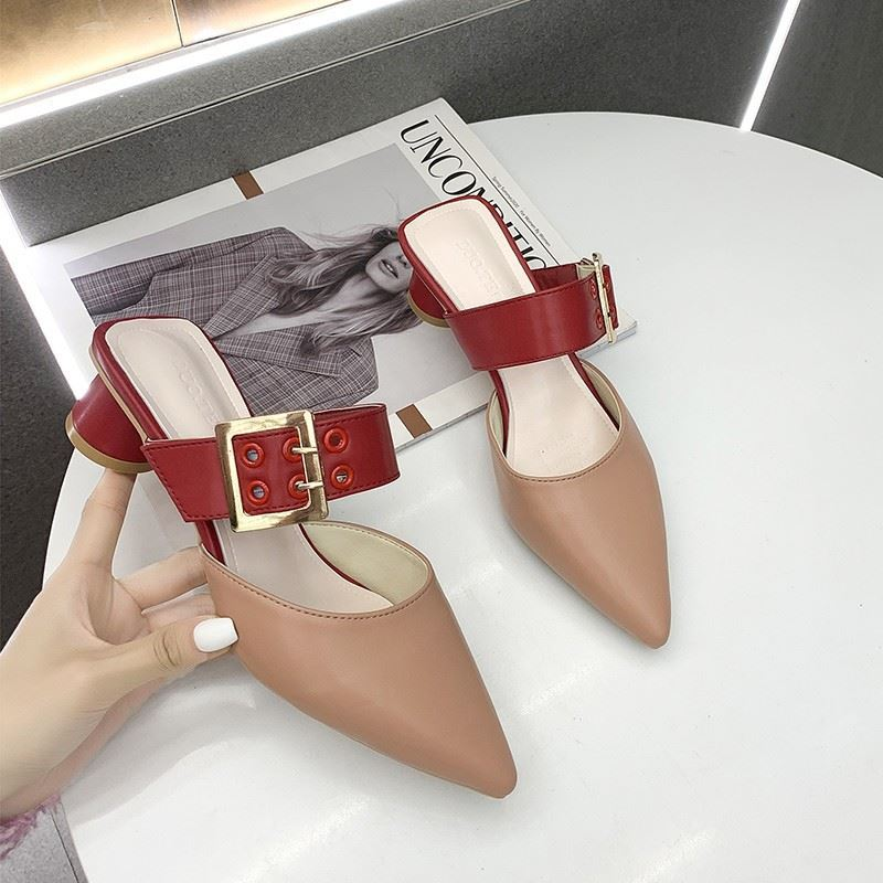 JSH168 IDR.180.000 MATERIAL PU HEEL 4CM COLOR KHAKI WEIGHT 700GR SIZE 36,37,38,39
