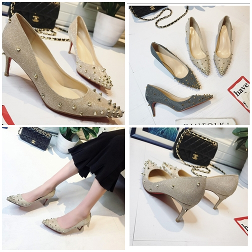 JSH2017 IDR 170.000 MATERIAL SEQUIN HEEL 6 CM COLOR GOLD WEIGHT 700GR SIZE 35,36