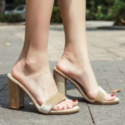 JSH59415-beige Sepatu High Heels Wanita Elegan Import 10.5CM