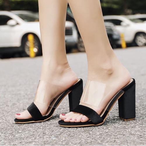 JSH59415-black Sepatu High Heels Wanita Elegan Import 10.5CM