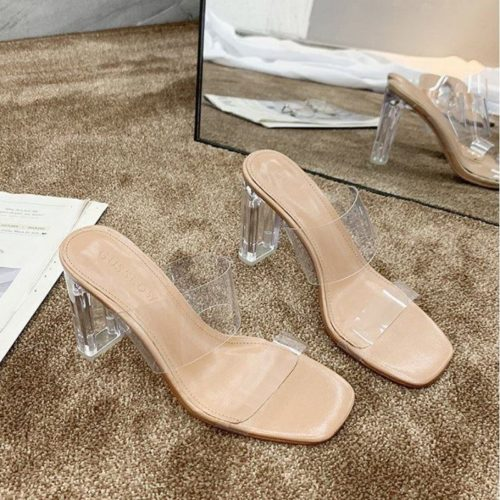 JSH600 IDR.150.000 MATERIAL PU HEEL 7 CM COLOR APRICOT SIZE 36,37,38,39,40
