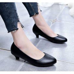 JSH801-black Sepatu Heels Pump Wanita Cantik Terbaru