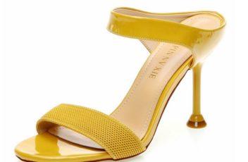 JSH831-yellow Sepatu Heels Wanita Elegan Import 8CM