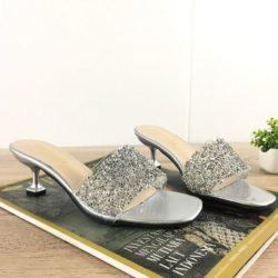 JSH851-silver Sepatu Heels Pesta Fashion Wanita Cantik 5.5CM