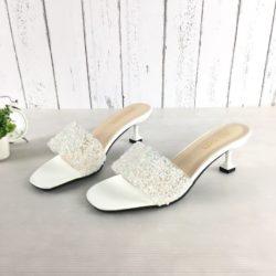 JSH851-white Sepatu Heels Pesta Fashion Wanita Cantik 5.5CM