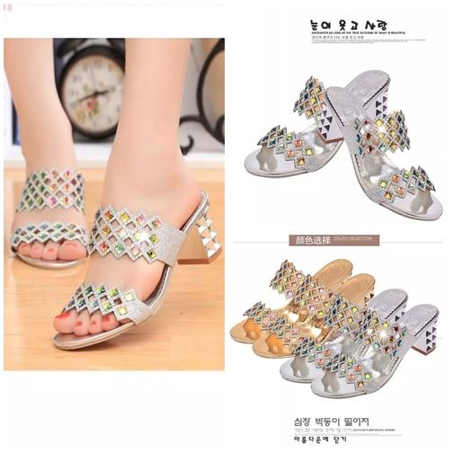 JSH8801 IDR 156.000 MATERIAL SEQUIN HEEL 6CM WEIGHT 700GR COLOR SILVER SIZE 35,36,37