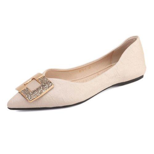 JSH8905-beige Sepatu Sandal Wanita Elegan Terbaru Import