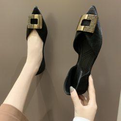 JSH8905-black Sepatu Sandal Wanita Elegan Terbaru Import