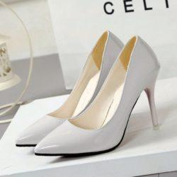 JSH9181-white Sepatu High Heels Wanita Elegan Import 9.5CM