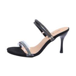JSH919-black Sepatu Heels Wanita Cantik Elegan 7CM