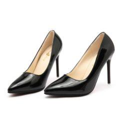 JSH9588-black Sepatu Heels Pointed Toe Wanita Cantik 10CM