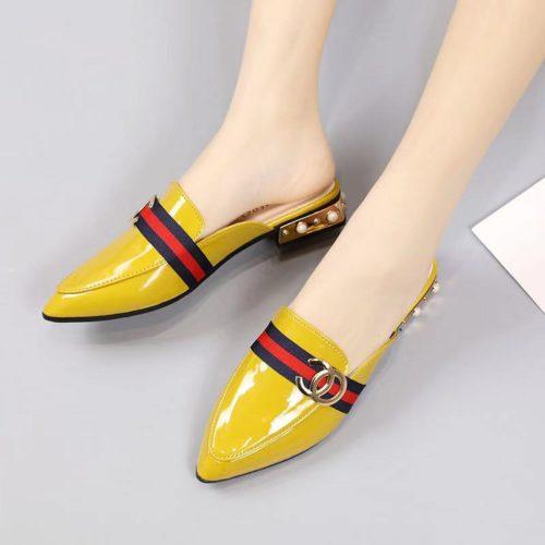 JSH9712-yellow Sandal Slip On Import Elegan Wanita Cantik