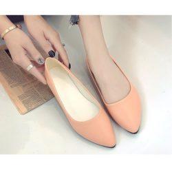 JSH992-pink Sepatu Casual Wanita Cantik Elegan 3CM