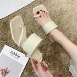 JSHD60-beige Sepatu Heels Wanita Cantik Import Terbaru 8CM
