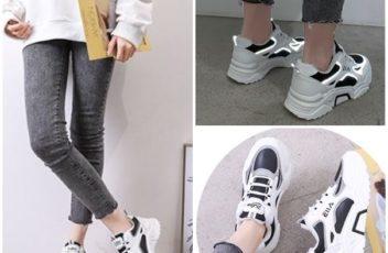 JSHJ198-black Sepatu Sport Fashion Import Terbaru