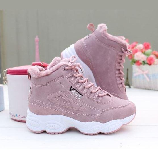 JSHMJ33-pink Sepatu Sneakers Wanita Stylish Import Terbaru