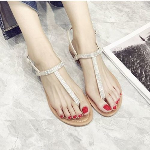 JSHW5-beige Sandal Flat Casual Modis Cantik