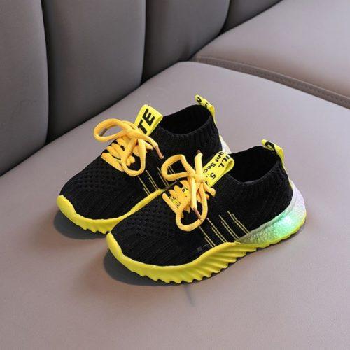 JSK018-black Sepatu Sneakers Anak Imut Import Terbaru