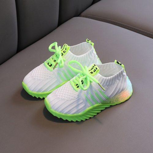 JSK018-green Sepatu Sneakers Anak Imut Import Terbaru