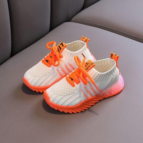 JSK018-orange Sepatu Sneakers Anak Imut Import Terbaru
