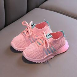 JSK018-pink Sepatu Sneakers Anak Imut Import Terbaru